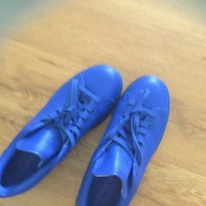 Adidas Shoes - Adidas stan smith , blue leather size 10